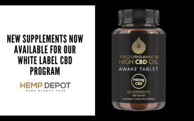 New Supplements Now Available for Our White Label CBD Program